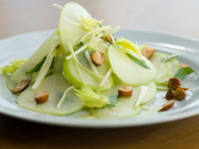 Granny Smith Apple and Muenster Salad with Marcona Almonds
