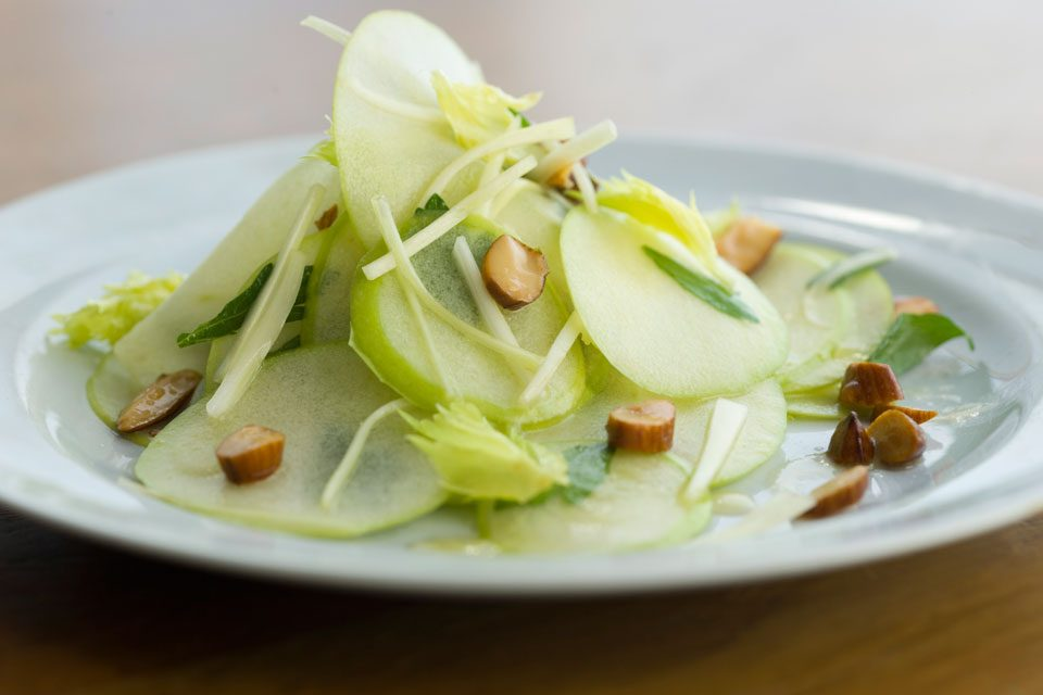 Apple and Manchego Salad with Marcona Almonds