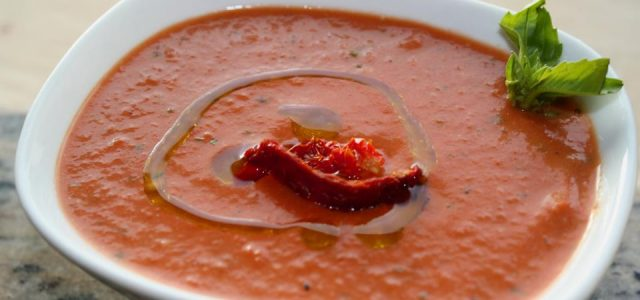 Cream of Roasted Pepper & Tomato Soup