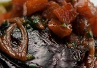 Maple - Balsamic Glazed Pork Chops with Thyme Poached Quince