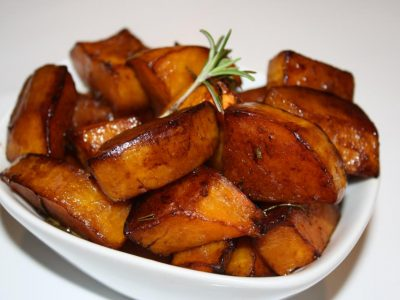 Cranberry-Pear Glazed Butternut Squash With Rosemary