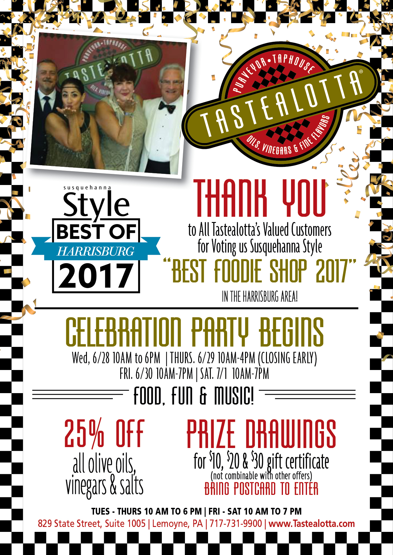 Tastealotta June 2017 PstCd (1)